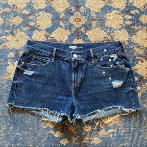 Old Navy Embroidered Boyfriend Shorts 6